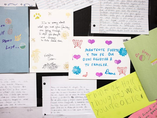 Letters of support for the families affected by the