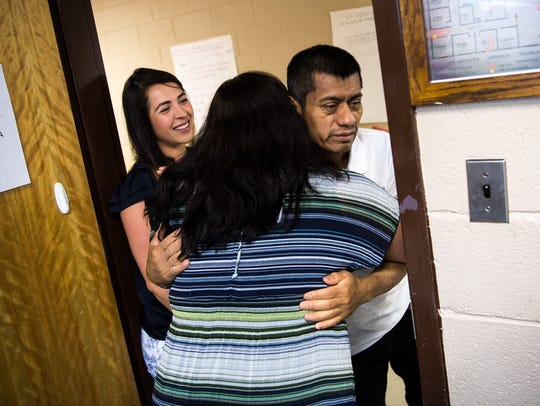 Gonzalo Chavez greets Tennessee Immigrant & Refugee