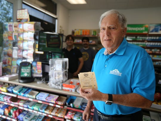 Vinny Perry of Mantoloking purchases Mega MIllions
