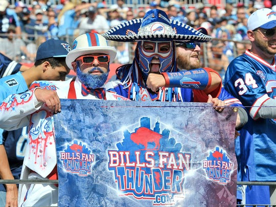 Pancho Billa, wearing the sombrero, is one of the most passionate fans in Bills Nation.