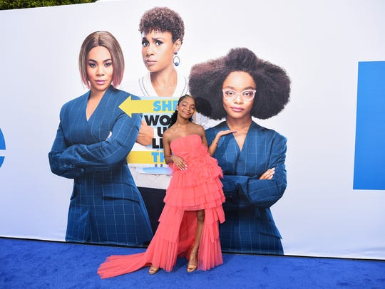 "Marsai Martin attends The Premiere Of Universal Pictures ""Little"", which she starred in and produced, April 8, 2019, in Westwood, California."