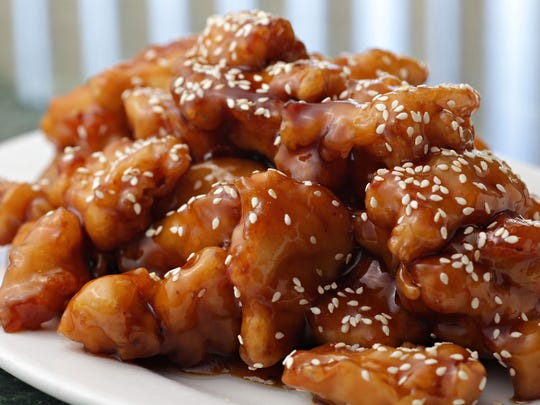The sesame chicken from Nee House Chinese Cuisine in Phoenix.