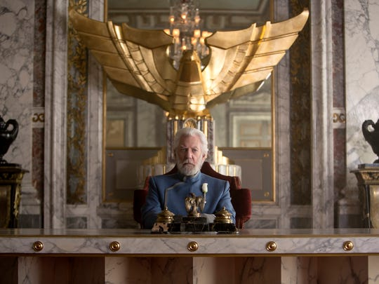 Donald Sutherland's performance as President Snow elevates