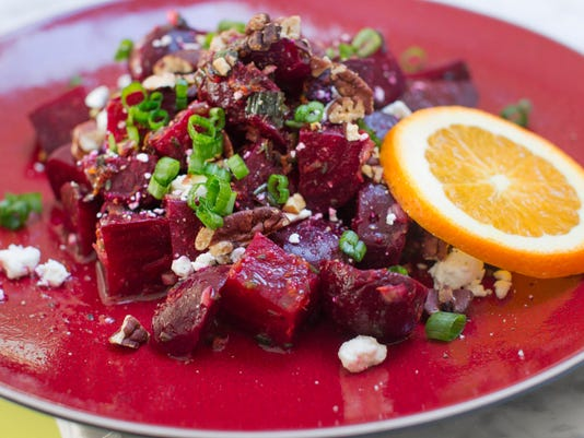 oasted beets with orange vinaigrette