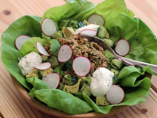 Edamame and walnut lettuce wraps