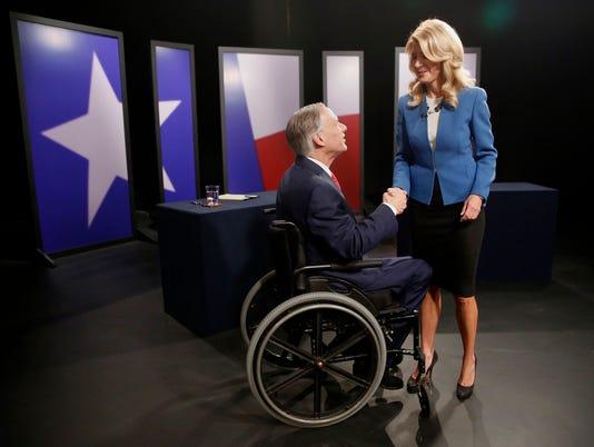 AP GOVERNOR'S RACE-DEBATE A USA TX