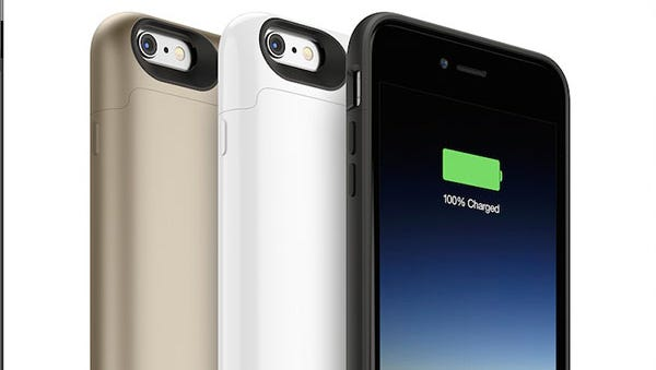 The new line of Mophie battery cases for the iPhone 6 and iPhone 6 Plus.
