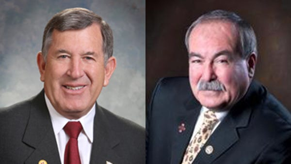 John Zimmerman, left, the incumbent Republican, faces a familiar challenger in Rudy Martinez for House District 39.