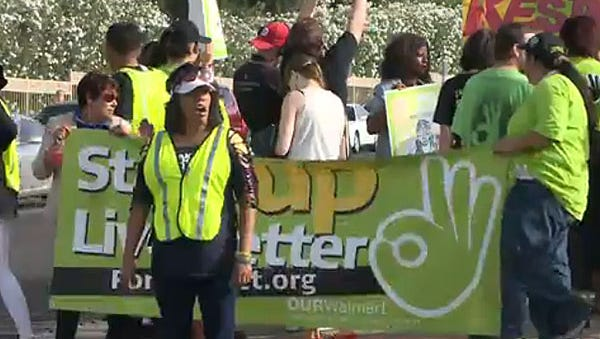 Walmart protesters in Paradise Valley on June 3, 2014.