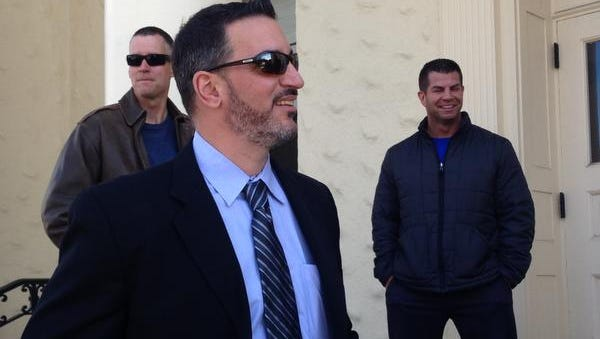 Rye PBA President Franco Compagnone was found not guilty of second-degree harassment, a violation, during a bench trial at Eastchester Town Hall on April 9, 2014.