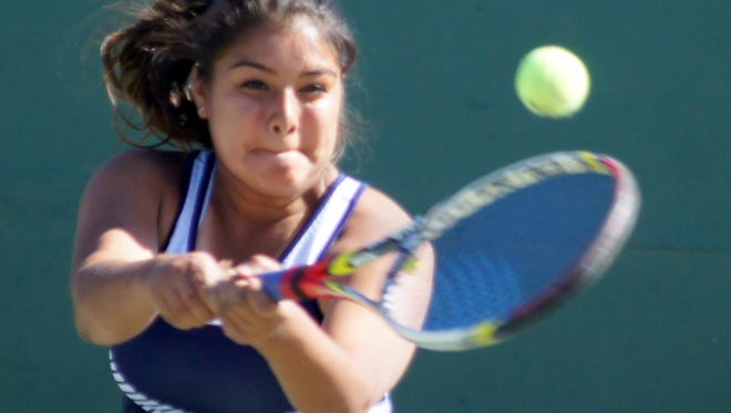 Christina Lopez won both her singles and doubles matches during Tuesday's dual against visiting Silver High. She partnered with Kiana Gomez in the doubles bracket.