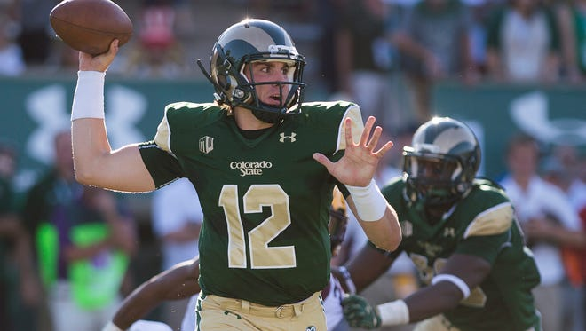 Quarterback Coleman Key, who was granted a release to transfer from CSU, throws a pass during an overtime loss Sept. 12 to Minnesota at Hughes Stadium.