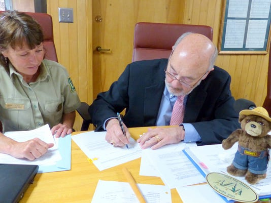 signing north fork permit battin and canfield