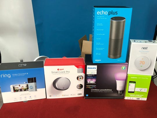 Collection of smart home devices, including the Ring,