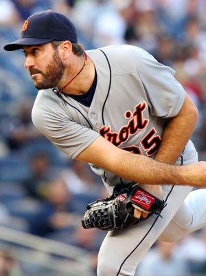 Tigers pitcher Justin Verlander