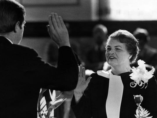 On Dec. 1, 1983, Marian Spencer was sworn in as vice-mayor.