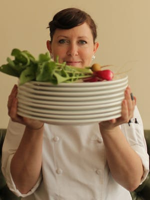 Annie Pettry, who five years ago used to hang her apron at The Admiral in West Asheville, and has now created quite a name for herself as the chef/owner of Decca Restaurant in Louisville, KY.