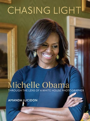 The cover of 'Chasing Light: Michelle Obama Through the Lens of a White House Photographer,' by Amanda Lucidon.