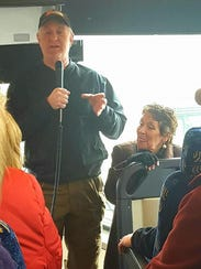 Bus Tour at Robinette's with owner Ed Robinette and