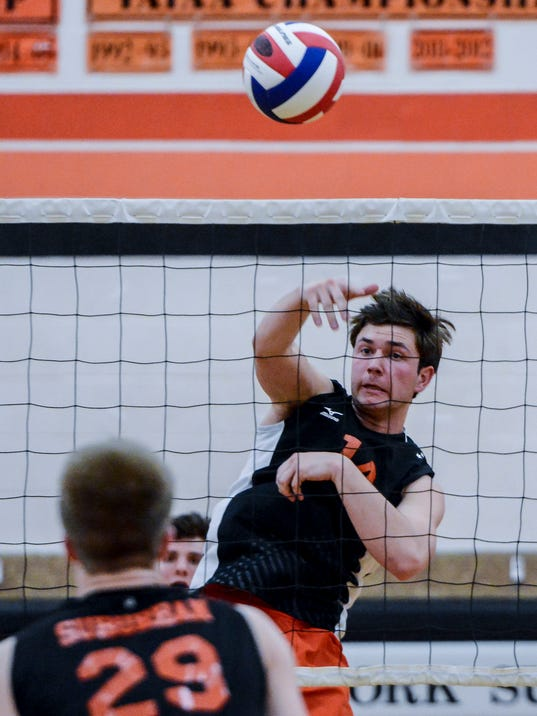 Central York vs York Suburban boys' volleyball
