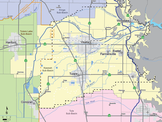groundwater sub basin map