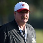 Kansas City Chiefs head coach Andy Reid will miss the NFL scouting combine after undergoing knee replacement surgery.