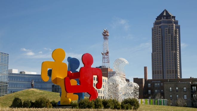 The Pappajohn Sculpture Park in downtown Des Moines Monday, March 30, 2015.