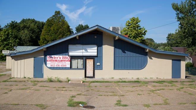 The former Shyler's barbecue restaurant at 405 S. Green River Road. The property is up for property tax sale Sept. 23.
