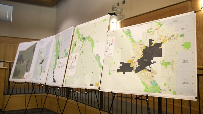 Proposed Official Zoning Map of Doña Ana County presented on Thursday, October 13, 2016, during a meeting with the Doña Ana County Planning and Zoning Commission.