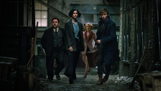 "The heroes of ""Fantastic Beasts"" are Kowalski (Dan Fogler, from left), Tina (Katherine Waterston), Queenie (Alison Sudol) and Newt (Eddie Redmayne)."