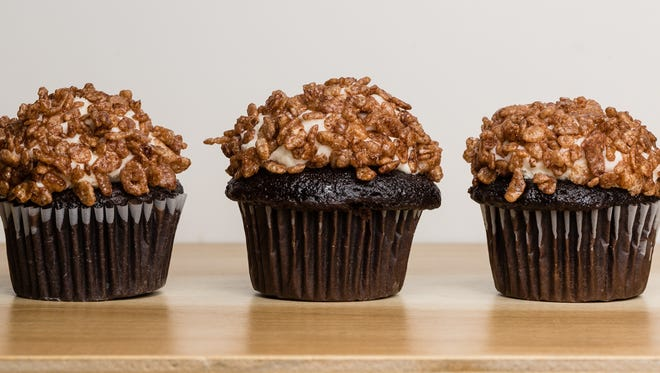 Don't be ashamed to use boxed cupcakes for this crispy cocoa cupcake recipe.