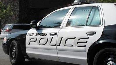 Palm Springs police are investigating a collision that involved a stolen car.