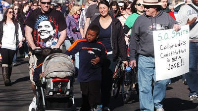 Scenes during the Martin Luther King Jr. Day, March in Fort Collins Monday Jan. 21, 2013.