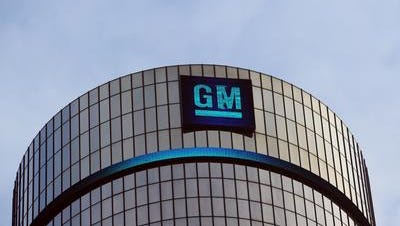 In this file picture taken January 14, 2014 General Motors headquarters is seen in the Renaissance Center in Detroit, Michigan.
