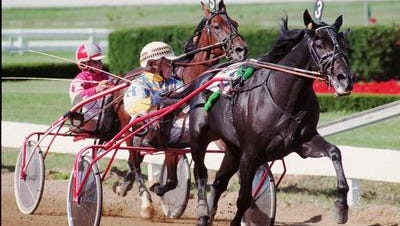 Racing at The Red Mile in Lexington, Ky.
