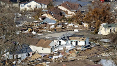 Homes and businesses in Cameron Parish were destroyed by Hurricane Rita in 2005.