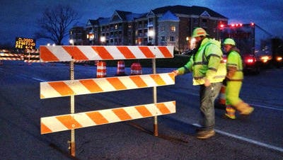 All lanes on Meridian Street between 96th Street and 106th Street will shift to the west side of the road for two months for construction.