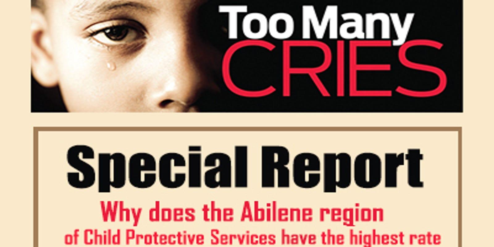 Abilene ranks highest in child abuse/neglect rate