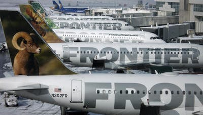 Low-cost carrier Frontier Airlines has had no impact on overall airfares since arriving at CVG in May 2013.