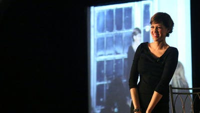 Jill Conley speaks at a Norton Healthcare event. File photo by Jessica Ebelhar.
