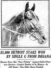 Indianapolis Star headline from the Chamber of Commerce stakes in 1915.