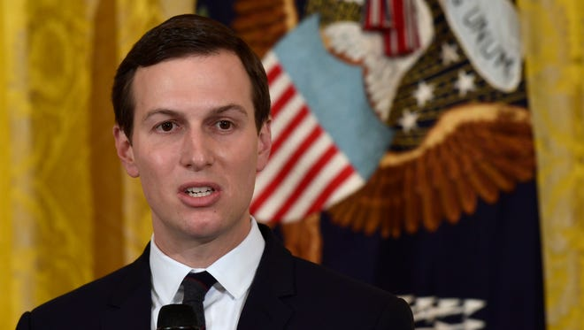 White House adviser Jared Kushner speaks during a Prison Reform Summit in the East Room of the White House May 18.