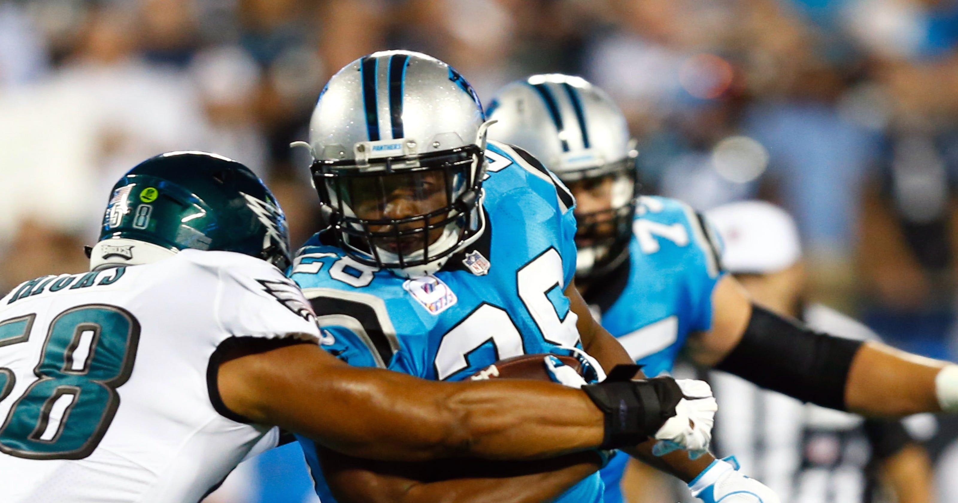 8a331ce02 Carolina Panthers  running game struggles against Philadelphia Eagles