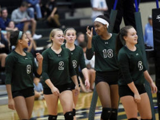 James Buchanan celebrates a win against Greencastle-Antrim after the first game of a winning match on Tuesday. The Rockets' win was the first over G-A since 2004.