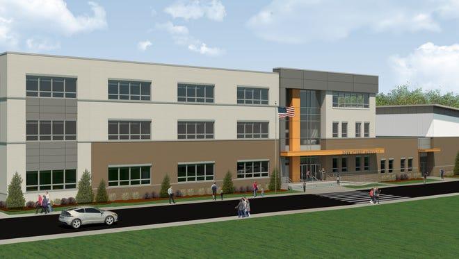 Rendering of the new Ross Street School in Woodbridge.