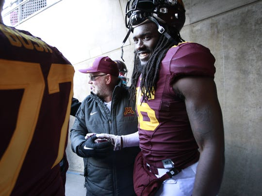 University of Minnesota redshirt senior De'Vondre Campbell played in the East-West Shrine Game in St. Petersburg. Future NFL players often trace back their roots to this game.