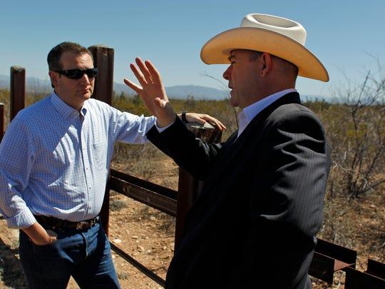 Arizona House Speaker David Gowan (right) speaks with