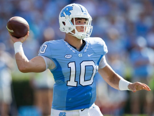 North Carolina Tar Heels quarterback Mitch Trubisky