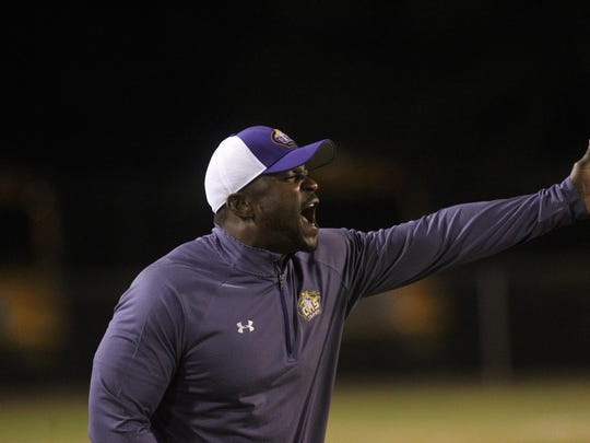 Columbia coach Brian Allen yells at his team during