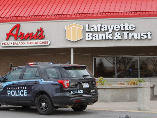 The Lafayette Bank & Trust inside the Pay Less Super Market on Maple Point was robbed about 1:10 p.m. Friday.